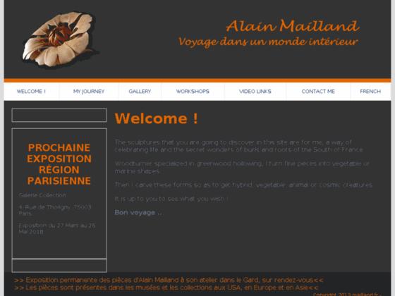 Photo image Alain Mailland, tourneur sur bois, France. Alain Mailland, a French woodturner