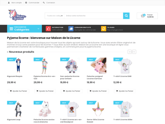 image du site http://www.maisondelalicorne.com