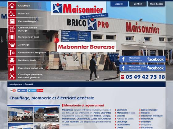 Détails : Maisonnier, entreprise vente équipements maison