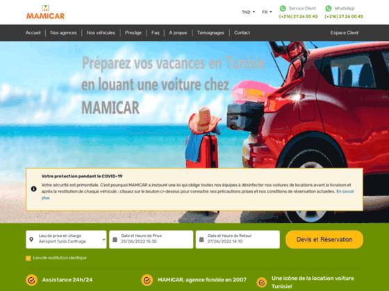 Location voiture en Tunisie: louer une voiture pas chère | Mamicar aéroport Tunis Carthage