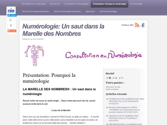 Détails : LA MARELLE DES NOMBRES CONSULTATION NUMEROLOGIQUE