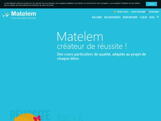 Détails : http://www.matelem.fr