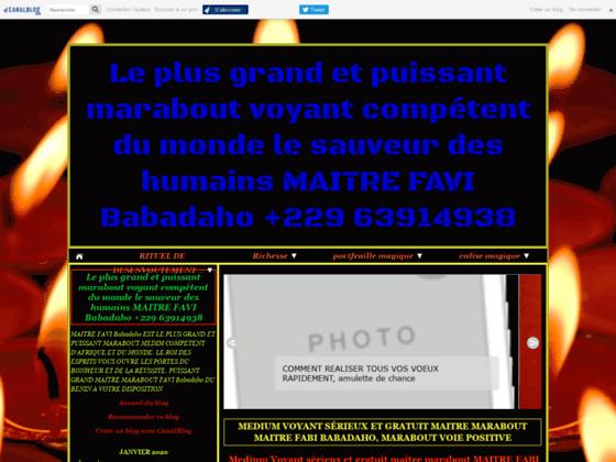 image du site http://www.mediumvoyantpuissantdafrique.com/