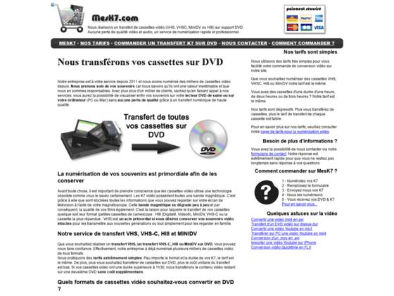 Détails : Mesk7: un transfert de k7 vers DVD au meilleur prix