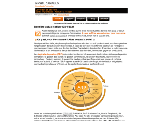 Détails : Consultant ERP (logiciels de gestion)
