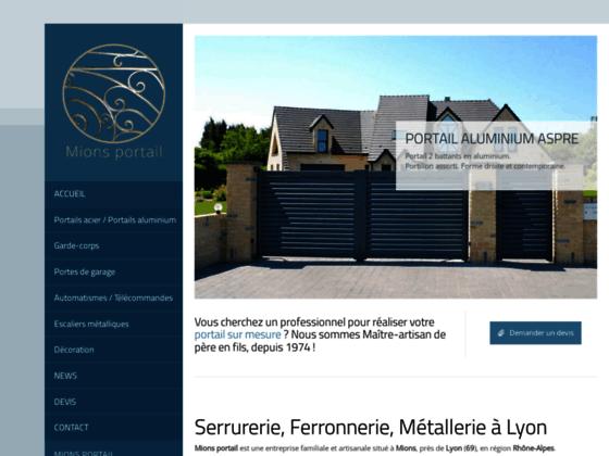Fabricant de portails acier Lyon, Portails Lyon - Mions portail