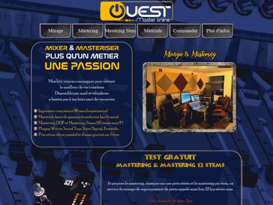 Détails : Ouest Master online studio de mixage et mastering à distance