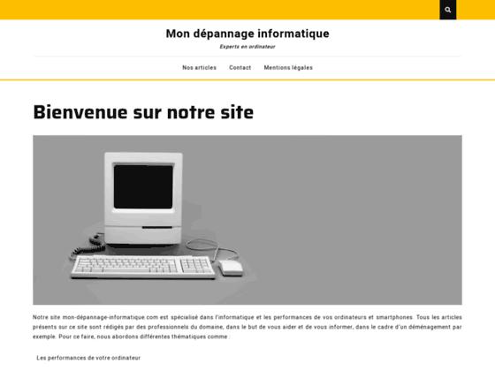 image du site http://mon-depannage-informatique.com