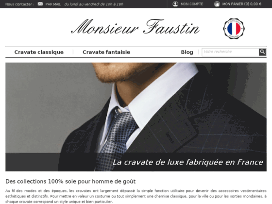 Détails : Cravate homme