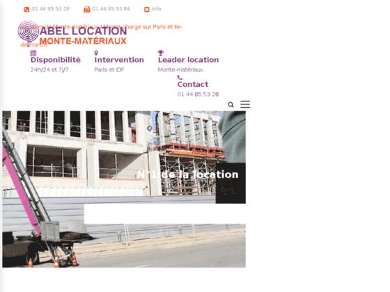 Détails : Location monte matériaux