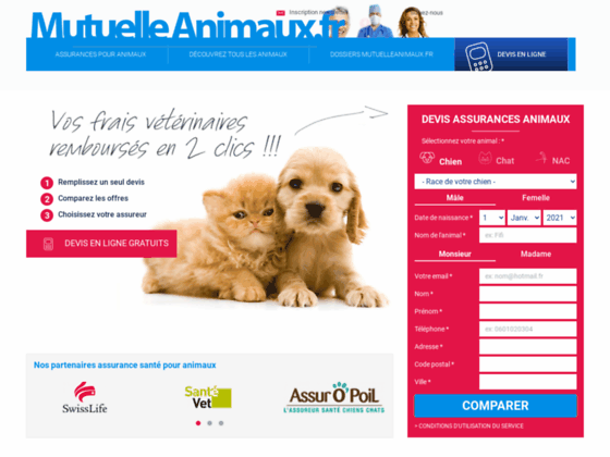 Détails : mutuelle pour chiens et chats