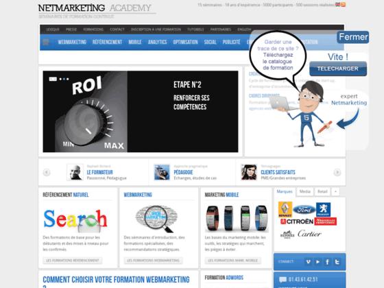 Détails : Netmarketing Academy, formation Webmarketing