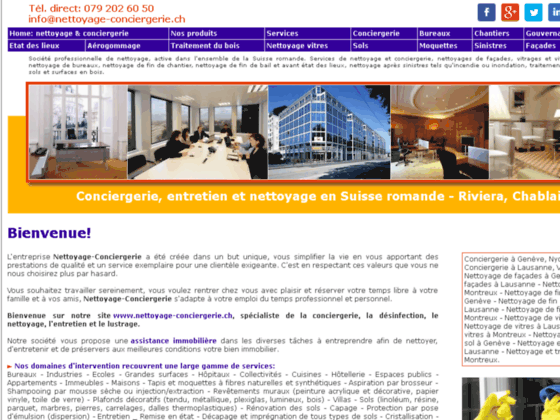 Détails : Entreprise suisse de conciergerie et nettoyages