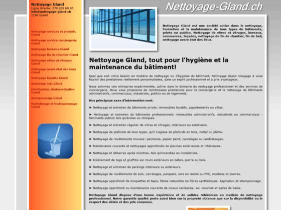Détails : Entreprise de nettoyages, région de Gland, Suisse
