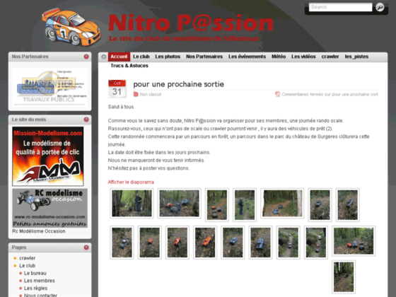 Photo image Le site officiel du club de modelisme de Villedoux (Nitro Passion)