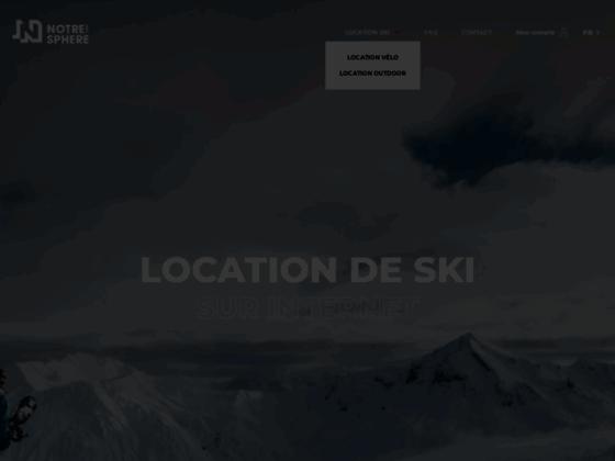 Détails : Louez vos skis partout en France avec Notresphere