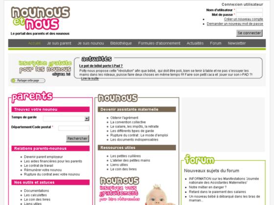 Détails : Nounous-et-nous.com : emploi assistante maternelle