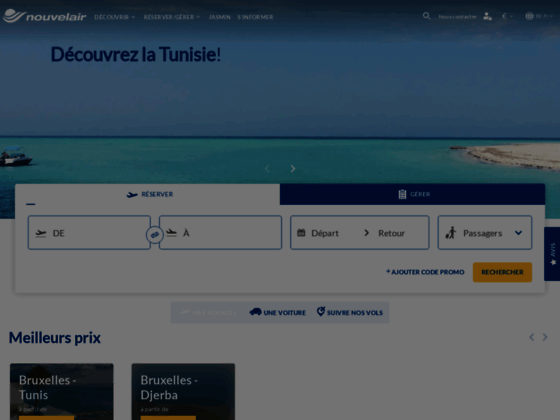 Nouvelair Tunisie - Achat billet d avion Tunisie