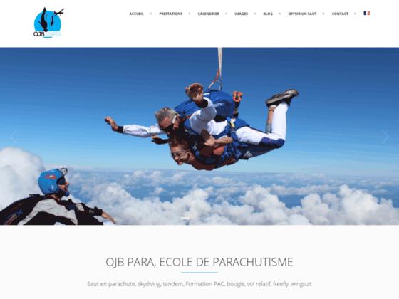 Photo image bapteme saut en parachute et chute libre. Formation parachutisme