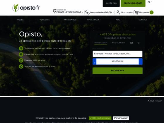Détails : Opisto.fr, site de vente en ligne de pièces automobiles