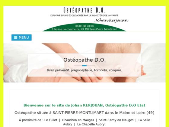 Détails : Johan Kerjouan : Ostéopathie à St Pierre Montlimart (49)