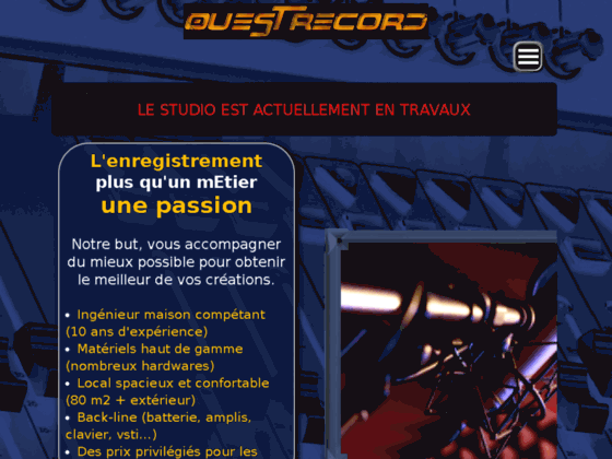 Studio d'enregistrement : Niort 79, La rochelle 17, Poitiers 86