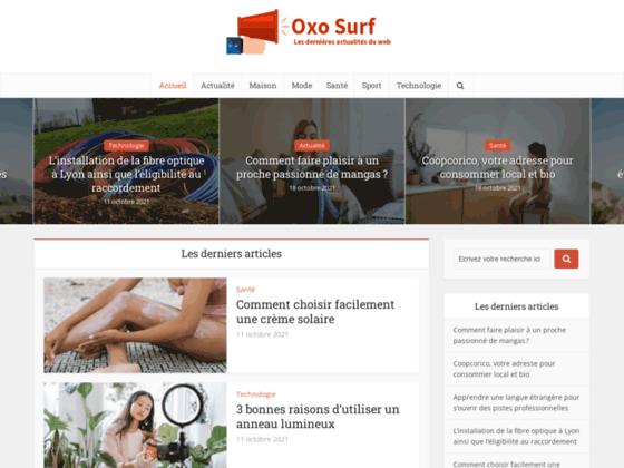 OxOSurf - Accueil - Les outils de promotion de vos sites, Echange de trafic, visiteurs 1:1 Manuel et automatique remuneré