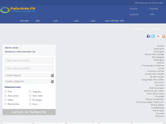 Détails : Votre petite annonce gratuite avec PaDuWeb