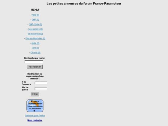 Photo image Les petites annonces de France-Paramoteur
