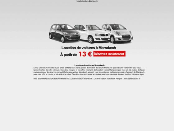 Détails : Location de voiture à Marrakech Aéroport