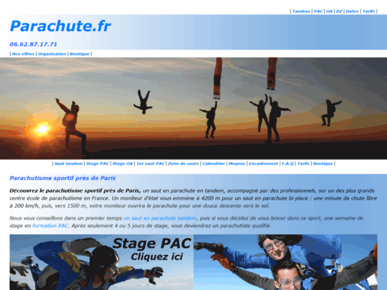 Photo image WWW.PARACHUTE.FR - Ecole de Chute Libre - Parachutisme - Saut en parachute