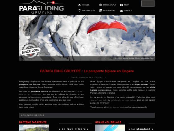 Vol en parapente en Suisse