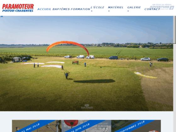 Photo image Paramoteur Poitou-Charentes - Formation au pilotage ou baptêmes en paramoteur - Paramoteurs &a