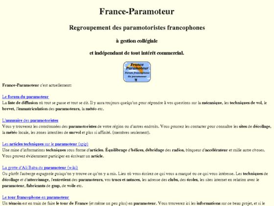 Photo image Le site du paramoteur: vols, forum, voiles, formation, technique, écoles, petites annonces...