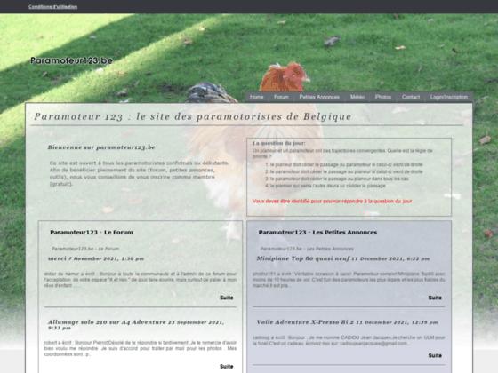 Photo image Paramoteur123.be le site des paramotoristes en Belgique - Accueil