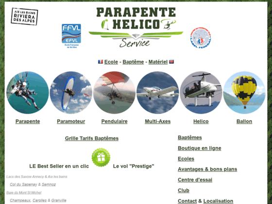 Photo image Parapente Service Ecole & biplace parapente & paramoteur www.parapente.org