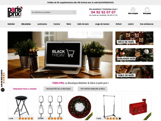 Boutique de déco en ligne