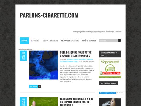Blog e-cigarette