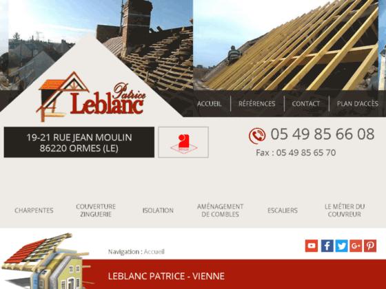 Détails : Patrice Leblanc, entreprise de couverture