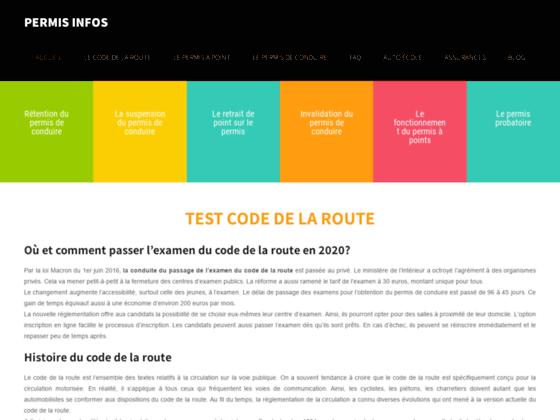 Détails : test code de la route en ligne