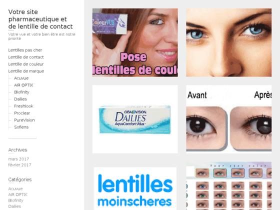 Détails : lentilles de contact