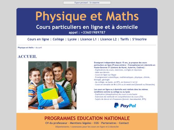 Détails : Cours particuliers de maths à domicile Toulouse