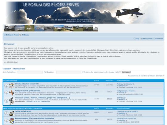 Photo image Le forum des pilotes privés • Page d'index