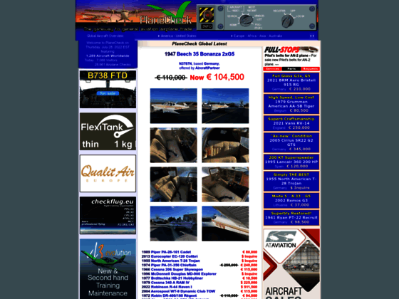 Photo image PlaneCheck Aircraft for Sale - New planes and price reductions