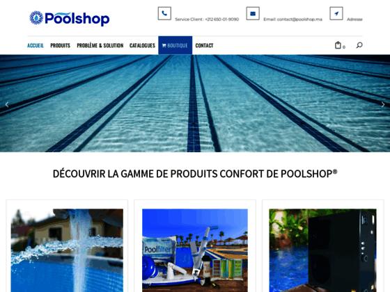 image du site https://poolshop.ma/