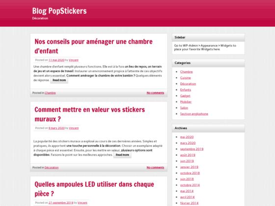 PopStickers, le site de vente d'adhésifs