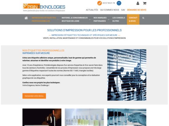 Printeknologies, une entreprise spécialisée en pince étiquette