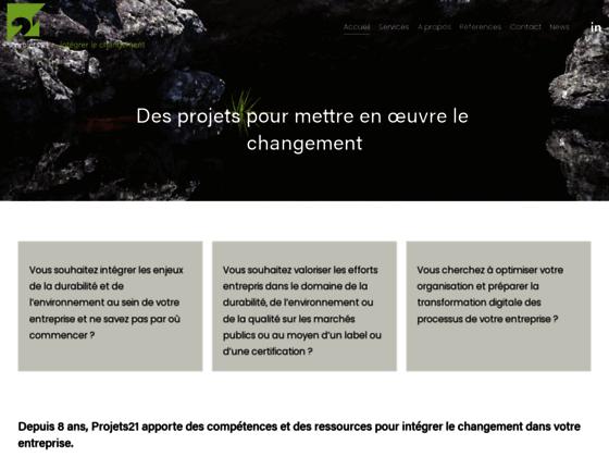 Détails : Projets21: management durable (Suisse)