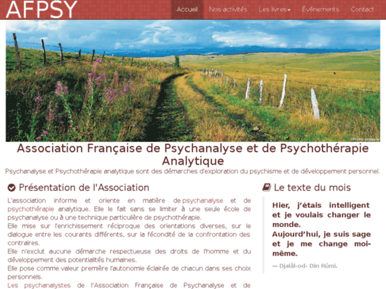Photo image Association francaise de psychanalyse et de psychotherapie analytique