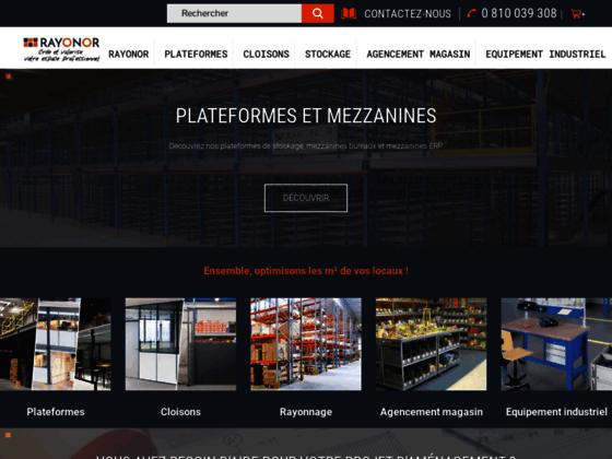 Détails : Rayonor – vente en ligne mezzanine industrielle